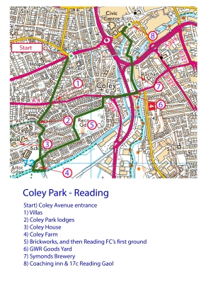 Annotated Coley Park Map